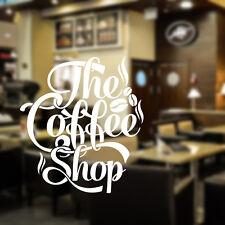 El café pared de la tienda adhesivo decorativo vinilo cita restaurante cof7