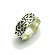 In argento Sterling, celtico anello fede R000491 Empress