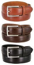 S029 Made in Italy Mens Italian Dress Belt 30mm Black Brown Tan