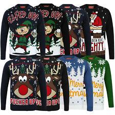 Mens Tokyo Laundry Jumpers Funny Novelty Xmas Rude Santa Snow Elf Reindeer