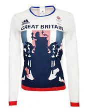 WOMENS All Sizes Adidas TEAM GB Comp Top T Shirt Running Training Long Sleeve