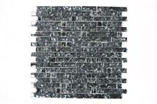 Mosaik Fliese Transluzent Glasmosaik Crystal schwarz 87-MV718_13 | 13 Matten