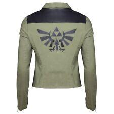 Pour femme Legend of Zelda Triforce Logo Veste De Motard-FEMME Ajustée Cosplay