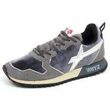 F6276 sneaker donna suede/velvet/eco fur W6YZ WIZZ JET-W scarpe grey shoe woman