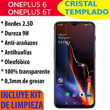 Protector De Pantalla Cristal Templado Para OnePlus 6 / 6T Vidrio 2.5D 9H