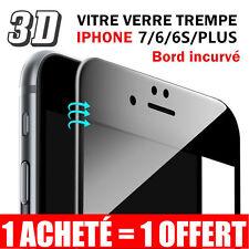 Lot /2 - VITRE 3D FILM DE PROTECTION INTEGRALE VERRE TREMPE  iPhone 7/6/6S/Plus