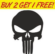 Punisher Skull Logo Comic Gráfico De Vinilo Auto Adhesivo