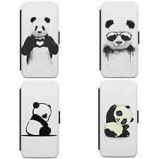 Cute Panda Art Animal WALLET FLIP PHONE CASE COVER FOR IPHONE SAMSUNG MODELS