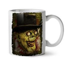 Happy Smile Zombie Monster Hat NEW White Tea Coffee Mug 11 oz | Wellcoda