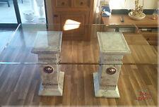 Designer Esstisch Medusa Büromöbel Tisch Glastisch Mäander Marmor Optik 160 cm