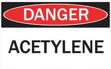 DANGER -ACETYLENE/ Vinyl Decal / Sticker / Safety Label  PIckA Size