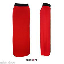 NEW RED LONG LENGTH SKIRT ELASTIC WAIST MAXI GYPSY BOHO LADIES WOMENS 8 10 12