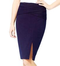 NWT Cache SEXY Navy Blue Skirt  w Slit   Office - Night   2  6 10 ( S M L)