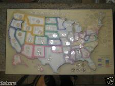 50 STATEHOOD BU Quarters US MAP WITH DC & TERRITORIES