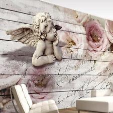 Vlies Fototapete Engel Tapete Blumen Rose Wandtapete Vintage Holz f-A-0313-a-a