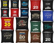 Kissen Geschenk zum 20.Geburtstag - Geschenkidee Kissen - 20 Jahre Sprüche Deko