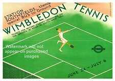 Wimbledon , vintage Tennis Poster, Wall art, Reproduction.