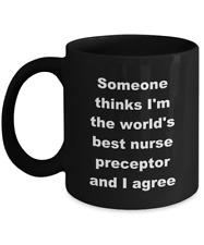 Nurse Preceptor Coffee Mug Gifts – Black - World's Best Nurse Preceptor Cup