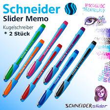 Schneider Slider Stift Kugelschreiber Memo XB *2 Stück