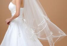 einfacher Brautschleier Schleier Feintüll ohne Kamm Hochzeit weiß/ivory Schleier