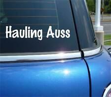 Hauling Auss Aussie Australian Terrier Funny Decal Sticker Art Wall