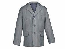 Baby Toddler Boy Formal Wedding Party Tuxedo Suit Pinstripe GRAY Jacket Sm-20