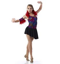 Tribal Mosaic Skirt Ballet Lyrical Dance Costume Feather Bird