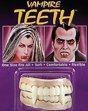 VAMPIRE TEETH Dracula Halloween Fancy Dress Fangs Soft
