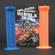 GK Scooter Handlebar Grips Combo Orange Blue + bar ends