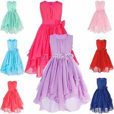 Mädchen Kinder Prinzessin Blumenmädchen Kleid Kommunionkleid Hochzeit Abendkleid