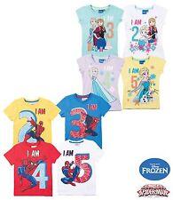 Frozen Spiderman Shirt Geburtstag 92 98 104 110 Mädchen Jungen Kurzarm 2 3 4 5