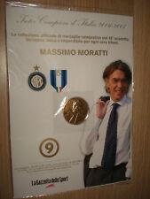 MEDAGLIA N°9 INTER CAMPIONE D'ITALIA 2006 2007 MASSIMO MORATTI DORATE 24K
