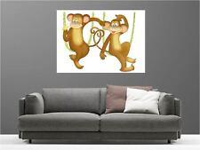 Cuadro pinturas decoración en kit Dos Monos ref 14401618