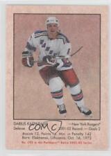 2002-03 In the Game Parkhurst Retro 192 Darius Kasparaitis New York Rangers Card