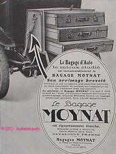PUBLICITE MOYNAT MALLE BAGAGE POUR AUTOMOBILE DE 1922 FRENCH ADVERT CAR PUB RARE