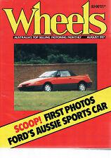 Wheels Aug 87 Ford Capri EA26 Honda CRX Nissan Pulsar Commodore Camira Camry Pin