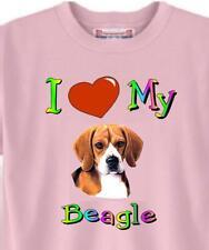 Dog T Shirt - I Love My Beagle - Adopt Rescue AnimalPet Cat # 51