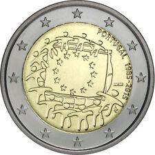 Portugal 2 Euro Gedenkmünze 2015 ST 30 Jahre Euro Flagge lose