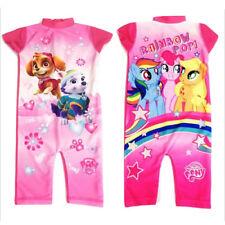 Girls Character UV 50+ Swimsuit Sun Safe Swimwear Costume Kids Sunsuit