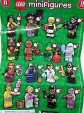Lego Minifigure Series 11 Figures 71002 SCARECROW GingerBread Man GRANDMA Yeti