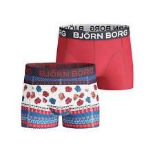 Bjorn Borg 2-Pack 8-Bit Borg stampa Ragazzi Boxer BAULI, Multi/Rosso
