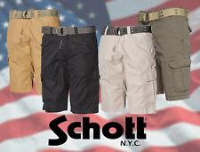 Schott Nyc usa pantalones cortos estilo cargo con cinturón [ 71015 ]