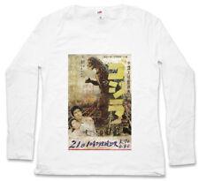 GODZILLA VINTAGE ASIA I WOMEN LONG SLEEVE T-SHIRT Japan Goijra Tokyo King Kong