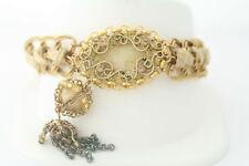 Gold-Tone yellow Stone Vintage Style Fashion Bracelet