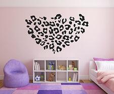 Leopard Heart Girls Wall Decal Big Heart Vinyl Wall Decal Graphics Decor Sticker