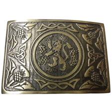 CC Brand New Traditional Lion Rampant Design Kilt Belt Buckle Antique Finish