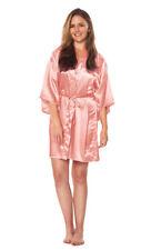 Women Luxury Robe Silk Satin Kimono Short Wrap bath Gown Wedding Bridesmaid Gift