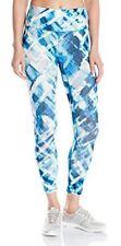 Hue U16479H Blue Diamond Active Capri Leggings w/Hidden Waistband Pocket - $40
