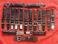 Genuine Leather Wristwatch Watch Strap Band Women Men Size 18mm Strap Belt