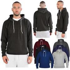 Men s Boys Fleece Plain Hoodie Sweatshirt Hooded Pull over Casual Gym Adult  Top 25c65d8aa2bd